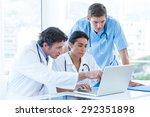 team of doctors working on... | Shutterstock . vector #292351898