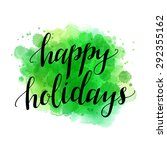happy holidays. green...   Shutterstock .eps vector #292355162