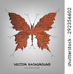 vector illustration of brick... | Shutterstock .eps vector #292356602
