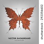 vector illustration of brick... | Shutterstock .eps vector #292356602