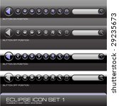 eclipse icon set 1 | Shutterstock .eps vector #29235673