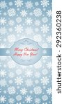 winter blue greeting template... | Shutterstock . vector #292360238