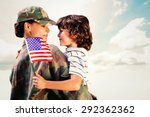 solider reunited with son... | Shutterstock . vector #292362362