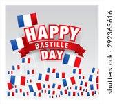 14 july. happy bastille day  | Shutterstock .eps vector #292363616