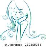 beauty's hair | Shutterstock .eps vector #292365356