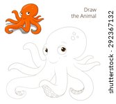 draw the fish animal octopus... | Shutterstock . vector #292367132