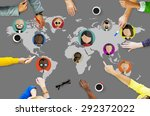 global community world people... | Shutterstock . vector #292372022