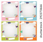 children photo frames with the... | Shutterstock .eps vector #292373666