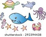 a cartoon illustration of... | Shutterstock .eps vector #292394438