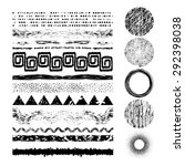 set of 17 grunge elements. hand ... | Shutterstock .eps vector #292398038