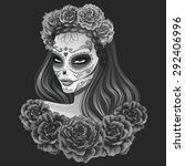 beautiful sugar skull woman...