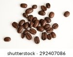 coffee beans on white background | Shutterstock . vector #292407086