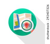 city map flat icon on white... | Shutterstock .eps vector #292407326