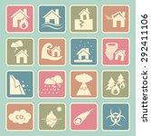 disaster icons | Shutterstock .eps vector #292411106