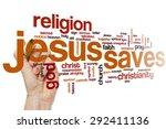 Jesus Saves Word Cloud Concept
