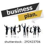 business plan planning strategy ...   Shutterstock . vector #292423706