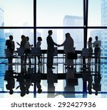 diverse business people... | Shutterstock . vector #292427936