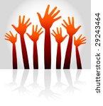 warm happy hands with copy...   Shutterstock .eps vector #29243464