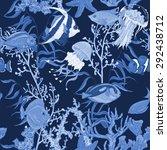Blue Sea Life Seamless...
