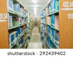abstract library blur background   Shutterstock . vector #292439402