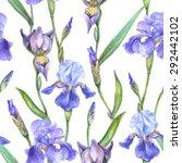 vector seamless watercolor... | Shutterstock .eps vector #292442102