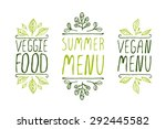 hand sketched typographic... | Shutterstock .eps vector #292445582