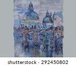 Vector Of Watercolor Of Venice...