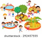 a vector illustration of kids... | Shutterstock .eps vector #292457555
