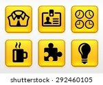 business lifestyle on yellow... | Shutterstock .eps vector #292460105