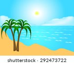 tropical beach. | Shutterstock .eps vector #292473722