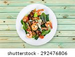 shrimp  seafood  dish. | Shutterstock . vector #292476806