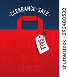 clearance sale poster with... | Shutterstock .eps vector #292480532