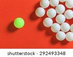 green ball and white balls ... | Shutterstock . vector #292493348