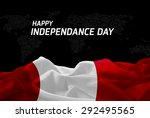 happy independence day peru... | Shutterstock . vector #292495565