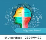 various infographic elements... | Shutterstock .eps vector #292499432