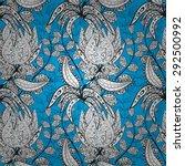 seamless wallpaper pattern in... | Shutterstock .eps vector #292500992
