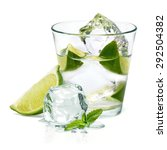 Caipirinha Cocktail With Lime...