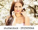 beautiful young brunette. the... | Shutterstock . vector #292505066