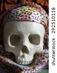 cool human skull relaxing like... | Shutterstock . vector #292510118