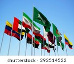 the opec countries. flags... | Shutterstock . vector #292514522