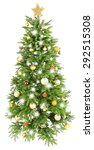 decorated christmas tree... | Shutterstock . vector #292515308