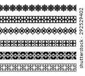 set of black borders isolated... | Shutterstock . vector #292529402