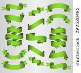 green ribbons set. vector...   Shutterstock .eps vector #292530482