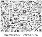 computer games   doodles... | Shutterstock .eps vector #292537076