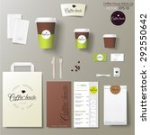 coffee shop corporate identity... | Shutterstock .eps vector #292550642