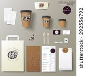 coffee shop corporate identity... | Shutterstock .eps vector #292556792