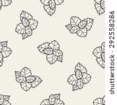 plant doodle seamless pattern... | Shutterstock . vector #292558286