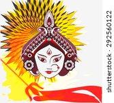 durga hindu goddess painting... | Shutterstock .eps vector #292560122