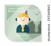 businessman flat icon with long ... | Shutterstock .eps vector #292560842