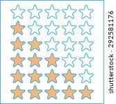 rating stars isolated on white. ... | Shutterstock .eps vector #292581176